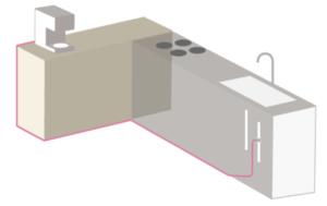 ウォータースタンドのアンダーシンク配線方法